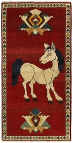 Ghashghai Vloerkleed 104X203 Echt Oosters Handgeweven Donkerrood/Donkerbruin (Wol, Perzië/Iran)