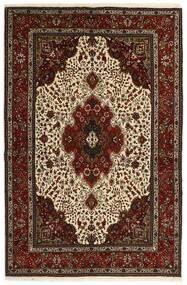Tabriz 40 Raj Vloerkleed 151X221 Echt Oosters Handgeweven Donkerbruin/Beige (Wol/Zijde, Perzië/Iran)