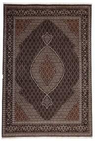 Tabriz 40 Raj Vloerkleed 200X300 Echt Oosters Handgeweven Donkerbruin/Lichtbruin (Wol/Zijde, Perzië/Iran)