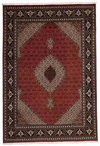 Tabriz 40 Raj Vloerkleed 205X296 Echt Oosters Handgeweven Donkerrood (Wol/Zijde, Perzië/Iran)