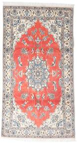 Nain Vloerkleed 120X215 Echt Oosters Handgeknoopt Wit/Creme/Lichtgrijs (Wol, Perzië/Iran)