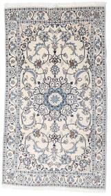 Nain Vloerkleed 123X218 Echt Oosters Handgeknoopt Wit/Creme/Lichtgrijs (Wol, Perzië/Iran)