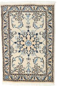 Nain Vloerkleed 60X90 Echt Oosters Handgeknoopt Beige/Zwart (Wol, Perzië/Iran)