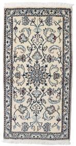 Nain Vloerkleed 70X140 Echt Oosters Handgeknoopt Lichtgrijs/Zwart (Wol, Perzië/Iran)