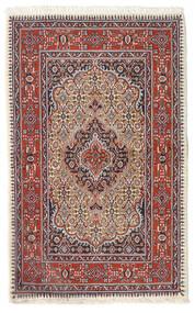 Moud Vloerkleed 74X119 Echt Oosters Handgeknoopt Donkerrood/Beige (Wol/Zijde, Perzië/Iran)