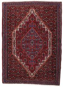 Senneh Vloerkleed 74X105 Echt Oosters Handgeknoopt Donkerrood (Wol, Perzië/Iran)