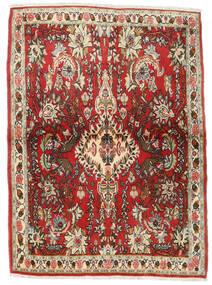 Senneh Vloerkleed 107X150 Echt Oosters Handgeknoopt Donkerbruin/Roestkleur (Wol, Perzië/Iran)