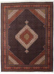 Ardebil Vloerkleed 290X390 Echt Oosters Handgeknoopt Donkerrood/Zwart Groot (Wol, Perzië/Iran)