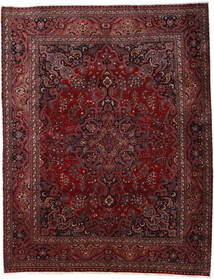 Mashad Vloerkleed 300X382 Echt Oosters Handgeknoopt Donkerrood/Donkerbruin Groot (Wol, Perzië/Iran)