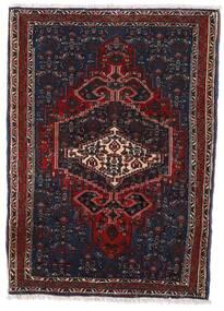 Hamadan Vloerkleed 66X92 Echt Oosters Handgeknoopt Donkerbruin/Donkerrood (Wol, Perzië/Iran)