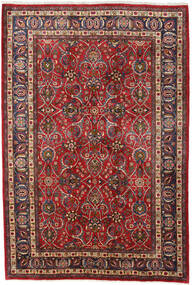 Mashad Vloerkleed 196X292 Echt Oosters Handgeknoopt Donkerrood/Donkerbruin (Wol, Perzië/Iran)