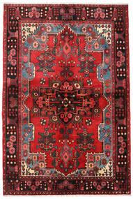 Nahavand Vloerkleed 133X205 Echt Oosters Handgeknoopt Donkerbruin/Donkerrood (Wol, Perzië/Iran)