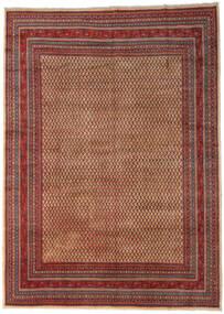 Sarough Mir Vloerkleed 289X399 Echt Oosters Handgeknoopt Donkerbruin/Donkerrood Groot (Wol, Perzië/Iran)