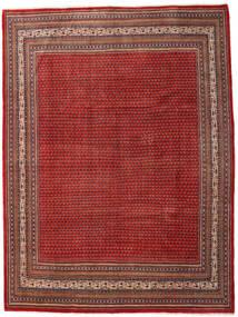 Sarough Mir Vloerkleed 273X363 Echt Oosters Handgeknoopt Donkerrood/Roestkleur Groot (Wol, Perzië/Iran)