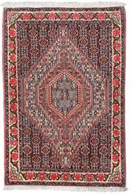 Senneh Vloerkleed 75X110 Echt Oosters Handgeknoopt Donkerbruin/Donkerrood (Wol, Perzië/Iran)