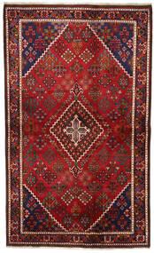 Joshaghan Vloerkleed 131X217 Echt Oosters Handgeknoopt Donkerrood/Zwart (Wol, Perzië/Iran)