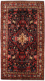 Nahavand Vloerkleed 156X278 Echt Oosters Handgeknoopt Donkerrood/Zwart (Wol, Perzië/Iran)