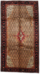Koliai Vloerkleed 157X290 Echt Oosters Handgeknoopt Tapijtloper Donkerbruin/Lichtbruin (Wol, Perzië/Iran)