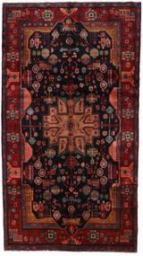 Nahavand Vloerkleed 158X286 Echt Oosters Handgeknoopt Donkerrood/Zwart (Wol, Perzië/Iran)