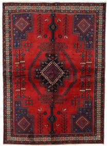 Afshar Vloerkleed 158X221 Echt Oosters Handgeknoopt Donkerrood/Donkerbruin (Wol, Perzië/Iran)