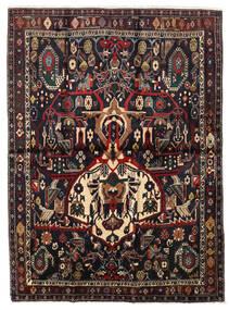 Afshar Shahre Babak Vloerkleed 136X185 Echt Oosters Handgeknoopt Donkerrood/Lichtbruin (Wol, Perzië/Iran)