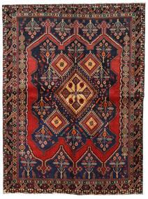 Afshar Vloerkleed 158X211 Echt Oosters Handgeknoopt Donkergrijs/Donkerrood (Wol, Perzië/Iran)