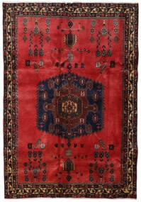 Afshar Vloerkleed 176X254 Echt Oosters Handgeknoopt Donkerbruin/Donkerrood/Roestkleur (Wol, Perzië/Iran)