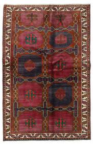 Lori Vloerkleed 136X210 Echt Oosters Handgeknoopt Donkerrood/Zwart (Wol, Perzië/Iran)