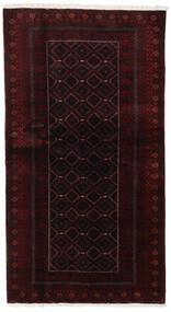 Beluch Vloerkleed 105X193 Echt Oosters Handgeknoopt Donkerrood (Wol, Perzië/Iran)