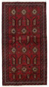 Beluch Vloerkleed 104X196 Echt Oosters Handgeknoopt Donkerrood (Wol, Perzië/Iran)