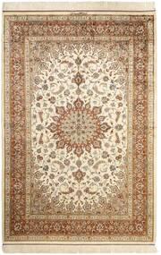 Ghom Zijde Vloerkleed 130X197 Echt Oosters Handgeknoopt Beige/Bruin (Zijde, Perzië/Iran)