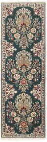 Nain 6La Vloerkleed 50X150 Echt Oosters Handgeweven Tapijtloper Donkergrijs/Lichtgrijs (Wol/Zijde, Perzië/Iran)