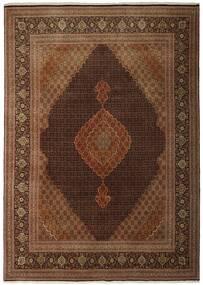 Tabriz 50 Raj Vloerkleed 250X348 Echt Oosters Handgeweven Bruin/Donkerbruin Groot (Wol/Zijde, Perzië/Iran)
