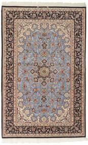 Isfahan Zijden Pool Vloerkleed 156X239 Echt Oosters Handgeweven Lichtgrijs/Donkerbruin (Wol/Zijde, Perzië/Iran)
