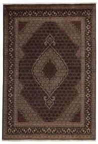 Tabriz 40 Raj Vloerkleed 200X288 Echt Oosters Handgeknoopt Donkerrood/Donkerbruin (Wol/Zijde, Perzië/Iran)