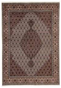 Tabriz 40 Raj Vloerkleed 170X241 Echt Oosters Handgeknoopt Lichtbruin/Donkerrood (Wol/Zijde, Perzië/Iran)