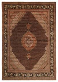 Tabriz 50 Raj Vloerkleed 251X347 Echt Oosters Handgeknoopt Donkerbruin/Bruin Groot (Wol/Zijde, Perzië/Iran)