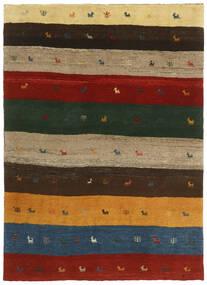 Gabbeh Perzisch Vloerkleed 123X176 Echt Modern Handgeknoopt Donkergroen/Rood (Wol, Perzië/Iran)