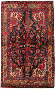 Nahavand Vloerkleed 135X223 Echt Oosters Handgeknoopt Donkerrood/Donkerblauw (Wol, Perzië/Iran)
