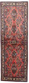 Sarough Vloerkleed 76X220 Echt Oosters Handgeknoopt Tapijtloper Donkerbruin/Bruin (Wol, Perzië/Iran)
