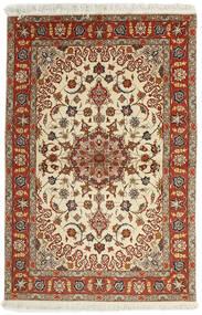 Tabriz 50 Raj Vloerkleed 102X153 Echt Oosters Handgeweven Donkerrood/Lichtbruin (Wol/Zijde, Perzië/Iran)