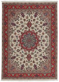 Tabriz 50 Raj Vloerkleed 151X204 Echt Oosters Handgeweven Donkerrood/Lichtgrijs (Wol/Zijde, Perzië/Iran)