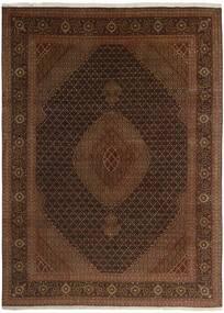 Tabriz 50 Raj Vloerkleed 244X344 Echt Oosters Handgeknoopt Donkerbruin/Bruin (Wol/Zijde, Perzië/Iran)