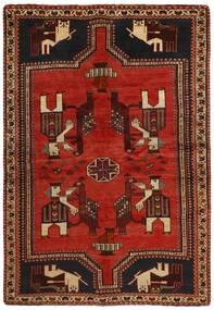Ghashghai Vloerkleed 157X226 Echt Oosters Handgeweven Donkerrood/Roestkleur (Wol, Perzië/Iran)
