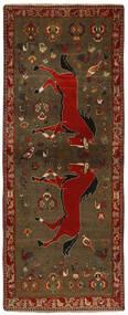Ghashghai Vloerkleed 111X282 Echt Oosters Handgeweven Tapijtloper Donkerbruin/Bruin (Wol, Perzië/Iran)