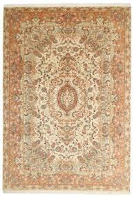 Tabriz 50 Raj Vloerkleed 205X297 Echt Oosters Handgeweven Beige/Bruin (Wol/Zijde, Perzië/Iran)
