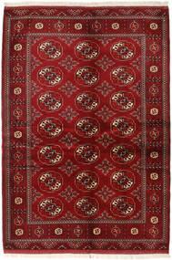 Turkaman Vloerkleed 136X200 Echt Oosters Handgeknoopt Donkerrood/Rood (Wol, Perzië/Iran)