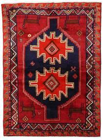 Lori Vloerkleed 147X200 Echt Oosters Handgeknoopt Donkerrood/Donkerpaars (Wol, Perzië/Iran)