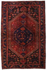 Hamadan Vloerkleed 138X214 Echt Oosters Handgeknoopt Donkerrood/Donkerbruin (Wol, Perzië/Iran)