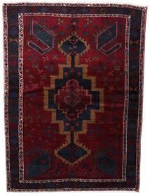 Lori Vloerkleed 154X210 Echt Oosters Handgeknoopt Donkerrood (Wol, Perzië/Iran)